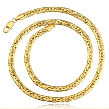 50cm New Collection Promotional Hot Sale 6mm Thick Gold Plating Link Chains Necklace
