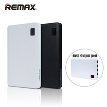 Remax Power Bank 30000mAh External Battery 4 USB Outputs Notebook design universal Portable Charger for iphone xiaomi Samsung LG(China)