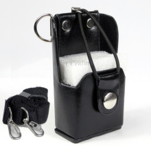 Portable Hard Artificial Leather Case Holster+Belt Clip for Motorola Two Way Radio Walkie Talkie GP328+Plus GP388 GP344 GP638+