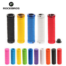 RockBros Bike Bicycle Grips Rubber MTB Mountain Bike Handlebar Grips Downhill Cycle Cycling Handle Lock Grip Accessoriess 2018(China)
