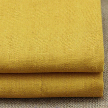100*140cm,Plain Dyed Gold Sewing Material Cotton Linen China Fabric Suppliers