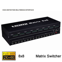 Quality 8X8 HDMI Matrix Switcher 8 In 8 Out HDMI 1.4b Splitter 4K HDMI Switch Matrix With RS-232 Support HDCP1.4(China)