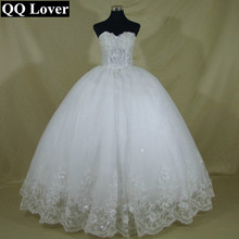 QQ Lover 2017 Elegant Luxury White Lace Wedding Dress Vintage Plus Size Ball Gowns Vestido De Noiva - Shining Girl store