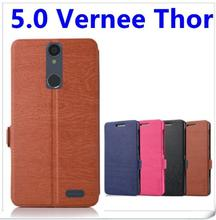 Original Vernee Thor PU Leather Case Exclusive Cover For Vernee Thor Dark blue/black colors Phone case