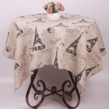 European Romantic French Paris Eiffel Tower Cotton Linen Table Cover Cloth Environmental Dustproof Decorative Modern Tablecloth