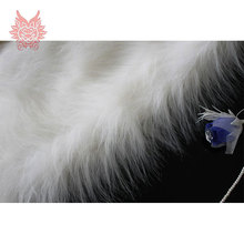 High grade 9cm Long fur fabric white plush faux fur for winter coat cosplay costume faux fur tissue 150*50cm 1 pc SP724