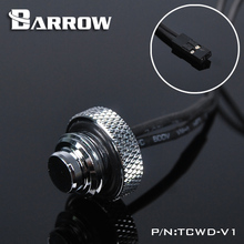 "Barrow 10K Temperature Sensor Water Cooling Blank Nozzle Plug With G1/4"" Threads Black White Silver Gold Color"