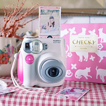 Fujifilm Instax Mini 7s Instant Film Photo Camera Blue Pink Free Shipping
