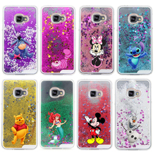 Glitter Star Liquid Back Case cover for Samsung Galaxy A3 2016/A5 2016/A7 2016 Cartoon Character Minnie Transparent Clear Case