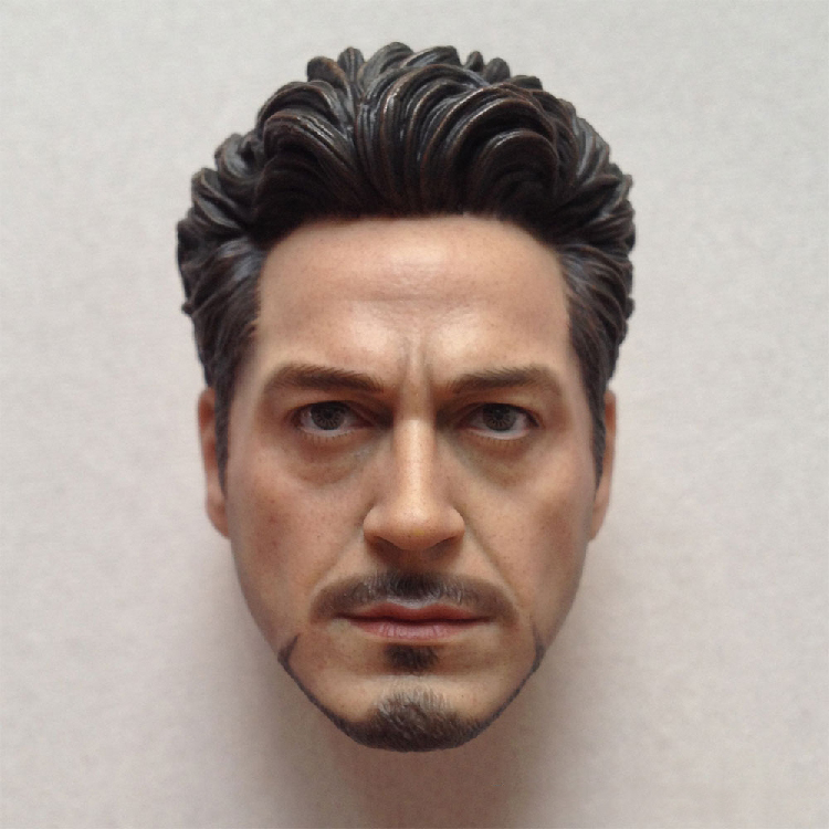 1/6 Head Sculpt  Body for 12 Action Figure doll Toys soldier head model toy Iron Man Tony Little Robert Downey V3.0 boys gift<br>
