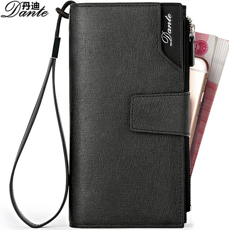High-Quality Cowhide Mens Wallet Genuine Leather Vertical 3 Fold Wallets Men Zipper Long Clutch Purse Men Handy Bags Card Holder<br><br>Aliexpress