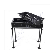 Thick grill charcoal grill home outdoor portable folding barbecue stove oven