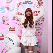 Princess sweet lolita Hoodies Soft, sweet and lovely princess of younger sister lambs wool fleece warm coat   YWW019