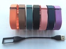 7pcs large size fitbit flex wristband/metal clasp and 1pcs fitbit flex replacement charger usb cable, fitbit gift for Christmas(China)