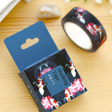 1 Pc / Pack Size 15 Mm*10m Diy Lotus Pond Washi Tapes Masking Tape Decorative Adhesive Tapes