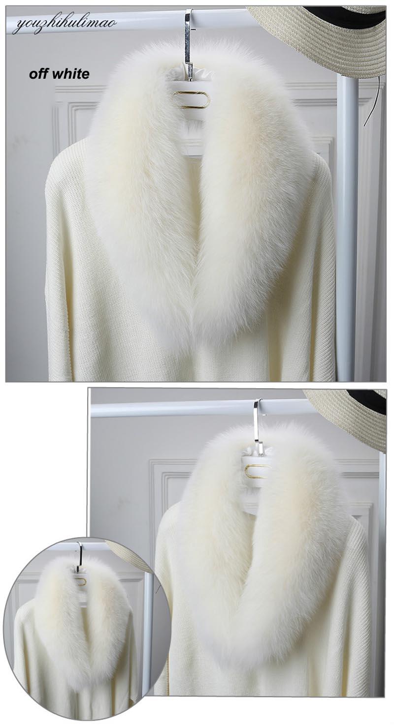 fox fur collar off white