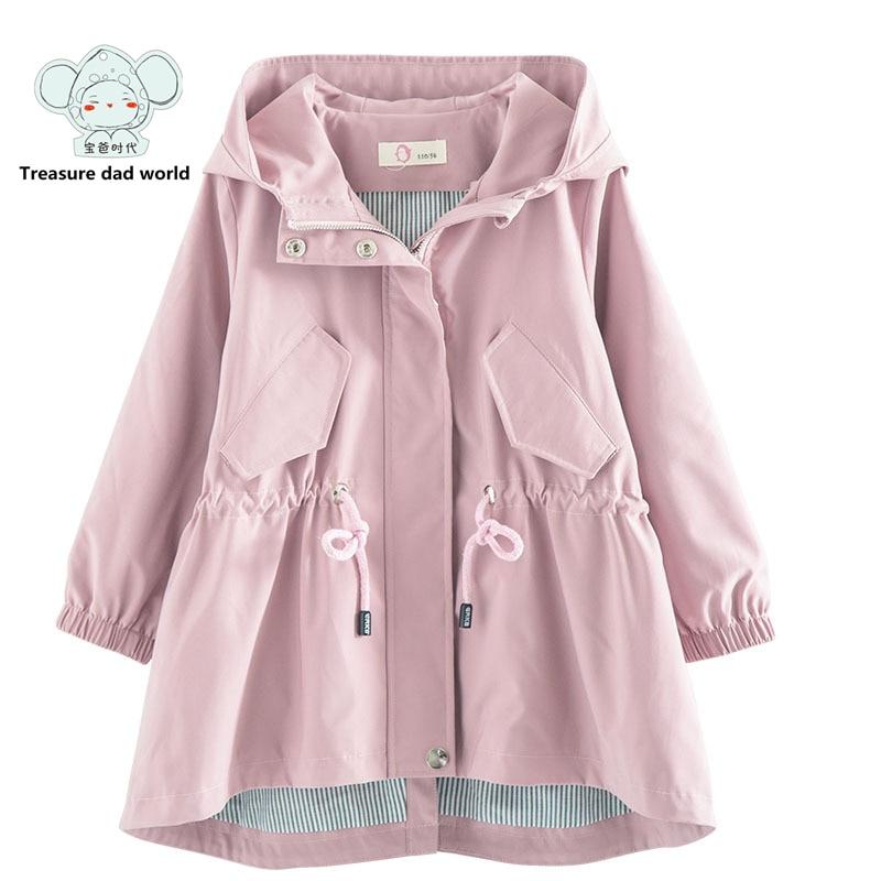 Treasure dad world Winter Coat Girls Jacket Kids Warm Outerwear Children Coat 2017 Fashion Children Clothing Girls Hooded jacket<br>