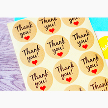 120pcs thank you stickers Packaging Sticker DIY Hand Gift Bag Sealing Kawaii Baking Decoration thank you stickers seal labels(China)