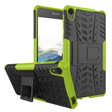 Hybrid Armor Hard Case for Sony Xperia E5 Mobile Phone Dazzle Cover With Kickstand / Shockproof Function For Xperia E5