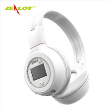 ZEALOT B570 Earphone Bluetooth Wireless Headphone Foldable Portable Stereo Bass Headset with LCD Screen Mic TF Slot Earbuds MP3
