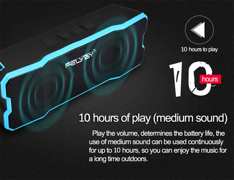 FELYBY Hot Portable Wireless Bluetooth Speaker High quality double speaker Bluetooth 4.1 IPX6 waterproof Support AUX TF playback