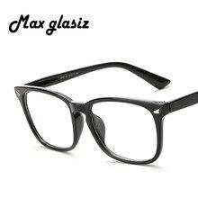 Maxglasiz Nerd Praça Limpar Lens Óculos de Armação Mulheres Homens Armações  de Óculos Óptica Óculos de 32316f1bcf