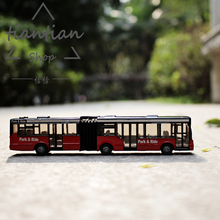 1:64 Alloy car model Double section bus metallic material Children's car toys Give the child the best gift