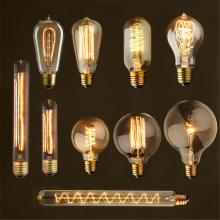 Buy Retro lamp ST64 G80 G95 Vintage Edison Light E27 incandescent bulb 110V 220V holiday lights 40W filament lamp home decor for $2.87 in AliExpress store