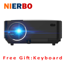 LCD Projector Home Theater Android4.4 Wireless Beamer Bluetooth4.0 WiFi 1500 LM 1080P Full HD Video Movies Media Player Cheap