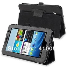 Folio PU Leather Case Cover Stand For Samsung Galaxy Tab 2 7.0 smart case WiFi 3G gt-P3100 gt-P3110 book case+stylus pen