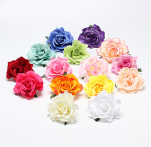 New Flocking Cloth Red Rose Flower Hair Clip Hairpin DIY Headdress Hair Accessories For Bridal Wedding 11colors Free Shipping(China)