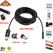 Stardot USB Endoscope Android MINI Camera 7mm Lens IP67 Waterproof Inspection Borescope Camera Flexible Snake Tube Endoskop