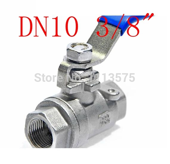 DN10 3/8 304 stainless steel types of shut off water oil ball valve valves pipe fitting fittings<br><br>Aliexpress
