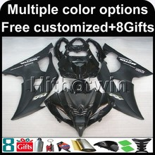 23colors+8Gifts black 2008 2009 2010 2011 2012 14 15 16 YZFR6 motorcycle Fairing For yamaha YZF R6 2008-2016 YZFR6 2008 2009(China)