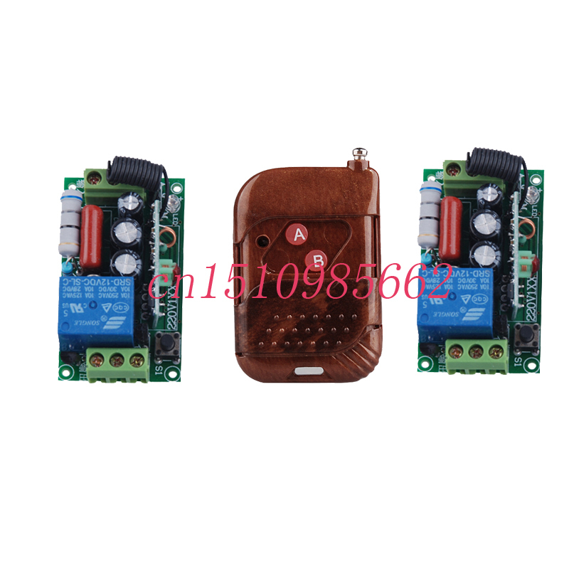 Free shipping 220V 1CH 10A livolo Radio Wireless Remote Control Switches 2 Receiver &amp;1 Transmitter automation smart home z-wave<br><br>Aliexpress