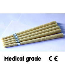 71 pairs/lot CE APPROVED medical grade smoke free natural beewax ear candle,ear waxing cone,without pesticide residue+ discs(China)
