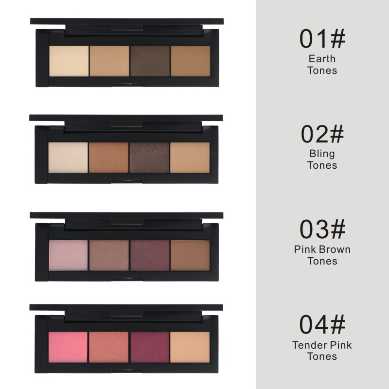 France HENLICS Brand 4 Colors Eyeshadow Palette Glamorous Smokey Eye Shadow Shimmer Colors Makeup Eyeshadow Palette (9)