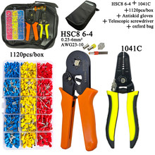 HSC8 Pliers Kit D2 Wire Cutting Pliers Tube Type Terminal Box Electrical Clamp Terminal Tube Tool Yellow Pliers 6-4 0.25-6mm2(Китай)