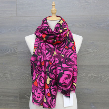 cotton scarf for Printing women wrap hijab cape female scarves snood winter hijab shawl silk sciarpa stoles scarfs for ladies(China)