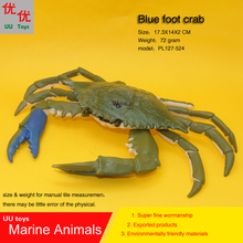 Hot toys Blue Foot Crab Simulation model Marine Animals Sea kids gift educational props Action Figures