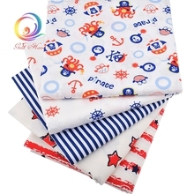 New Printed Ocean Pattern Twill Cotton Fabric Tilda For Baby Bedding Clothing Tecido Quilting Sewing Tecidos Baby Apron 160*50cm