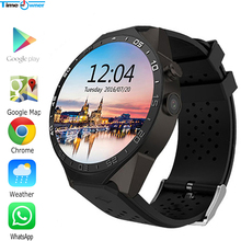 Time Owner KW88 Clock Smart Watch Android 5.1 OS 2.0 MP Camera Smartwatch Support SIM 3G Network GPS WIFI Google Play/Map/Voice(China)