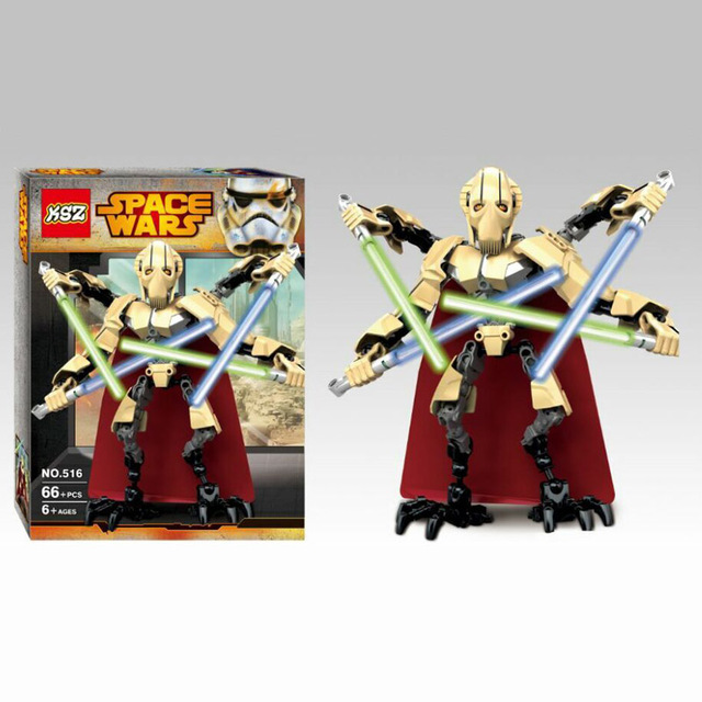 66pcs Star Wars Lightsaber Robot Minifigure General Grievous Building Toy Block Action Figure Model KSZ 516 Legoegoly Toys<br><br>Aliexpress