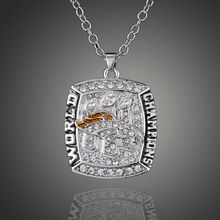 Souvenir Men Jewelry 2015 Denver Broncos rugby Super Bowl Championship Necklace Fashion Pendant Statement Necklace Fans Gift