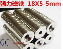 magnet 18x3 or 18x5 with Hole 5mm ound Magnets 18x3mm size 18x5-5mm Neodymium Circular Permanent countersunk Magnet 18x5mmm(China)