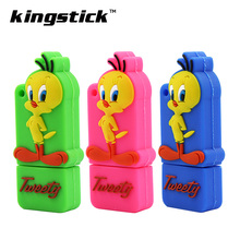Lovely usb flash drive cartoon tweety pendrive 4GB 8GB 16GB 32GB 64gb cartoon memory stick thumb drive pen drive USB2.0