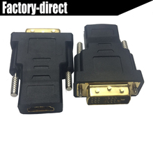DVI Male to HDMI Female M-F HDMI DVI Adapter Converter convertor with metal Screws(China)