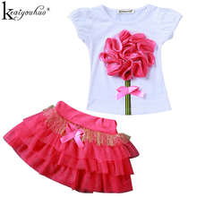 KEAIYOUHUO Children's Tracksuit For Girls Clothes Summer Short Outfits Suit Tutu Skirt Baby Clothes Sets Sport Suit Kids Clothes