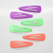 6Pcs/set neon color metal snap hair clips girl's 3cm hair pins daily use hair snaps hair accessories