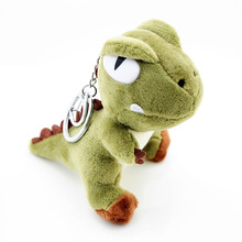 Random Color 1 Pcs 10CM Cartoon Plush Dinosaur Dolls Kids Birthday Gift Keychain Pendant